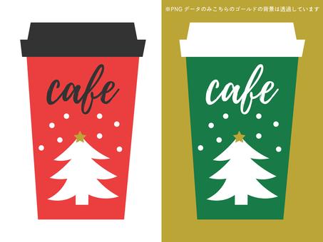 Christmas design takeaway cafe