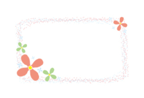 Business card size flower card