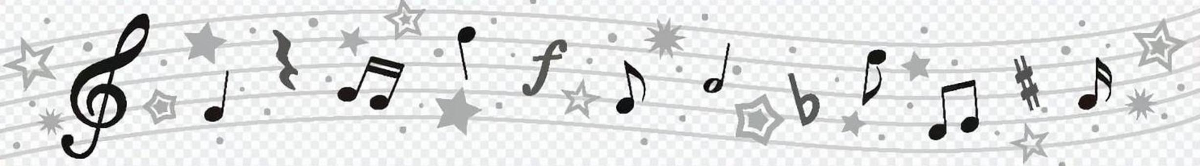 Summer music line (monochrome)