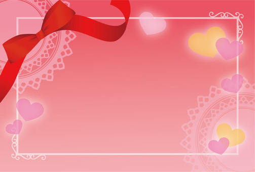 Heart background of lace and ribbon