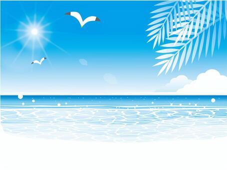 邀請到藍色海灘