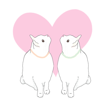 LOVE cat (in the heart)