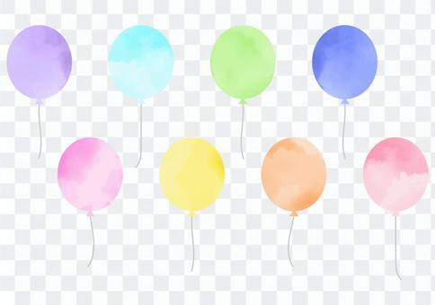 水彩氣球設置多彩