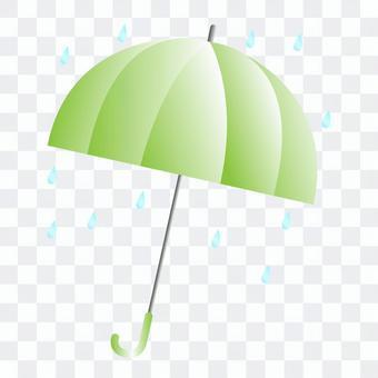 綠傘的插圖
