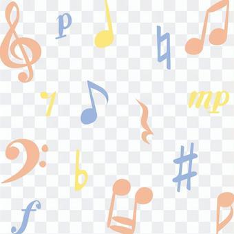 Cute notes ♪ set (color)