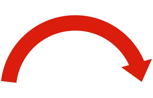 Arrow curve mountain red