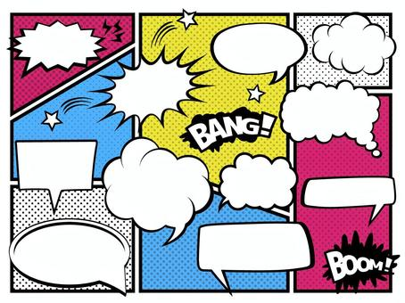 A011。美國漫畫風格的講話泡泡