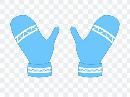 手套手套·淺藍色