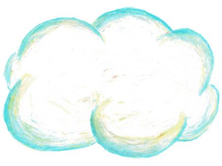 雲 クレヨン