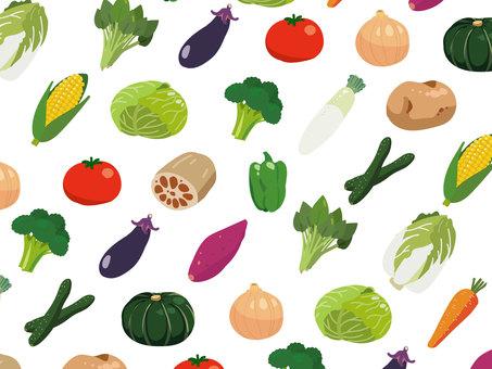 Deformed but slightly realistic vegetable set
