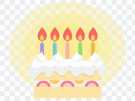 生日蛋糕(5蠟燭/燈)