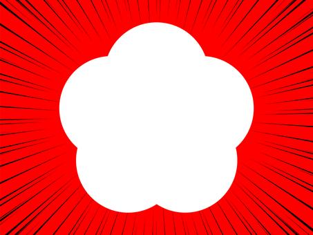 紅色背景上的集中線