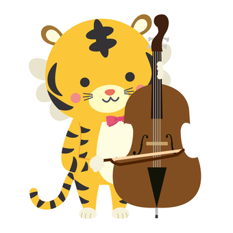 Tiger New Year's card! Contrabass tiger