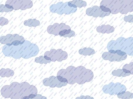 雨壁紙藍色