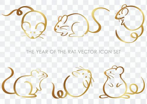 Child year icon illustration set