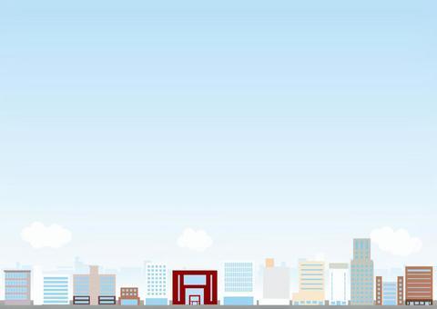 Cityscape Background Series Ekimae Building