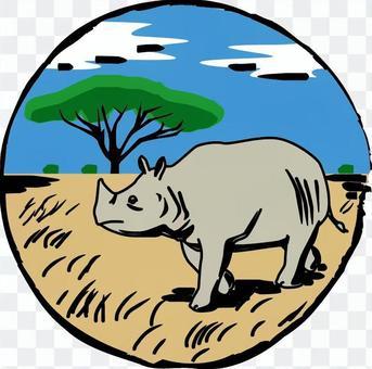 犀牛非洲大草原景觀動物