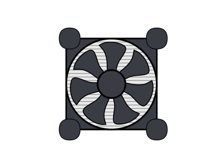 cpu散熱器插畫素材圖標