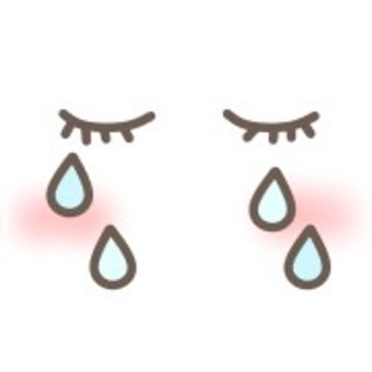 哭泣的悲傷表情臉淚透明