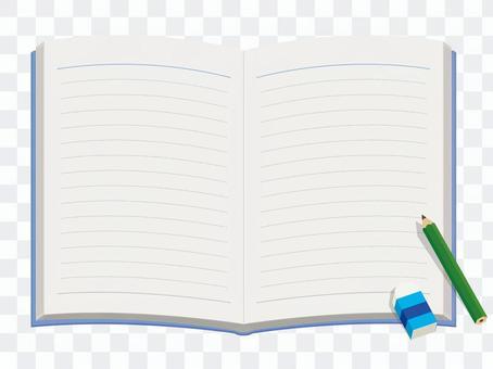 Elementary school / notebook / writing utensils