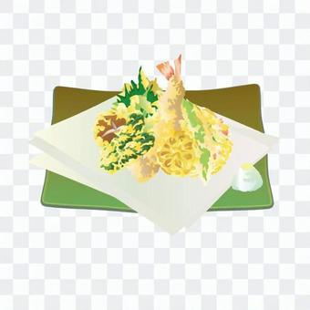 天婦羅拼盤(綠盤)