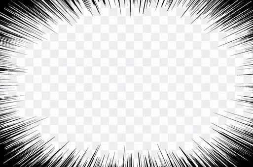 集中線150×100mm