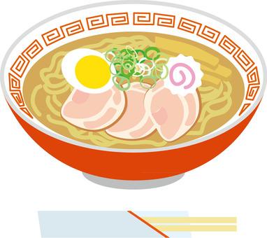 拉麵和筷子