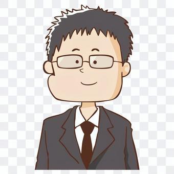 戴著眼鏡的西裝男人