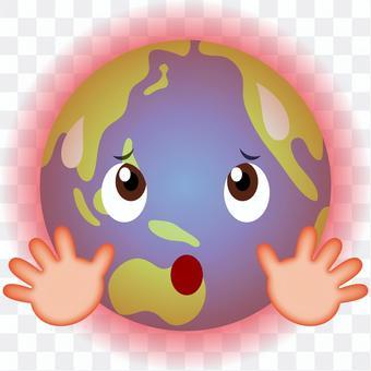 地球温暖化 かわいい地球のキャラクター