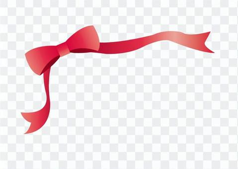 Decorative ribbon (red)