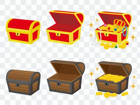 百寶箱金幣和珠寶