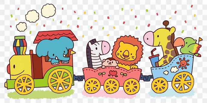 Animals riding locomotives
