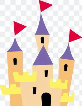 簡單的鏤空風格的西方城堡