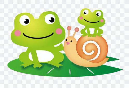 遇到青蛙和蝸牛