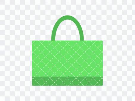 課袋絎縫綠色