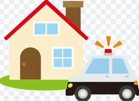 房子和警车