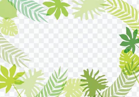 Tropical leaf frame 2