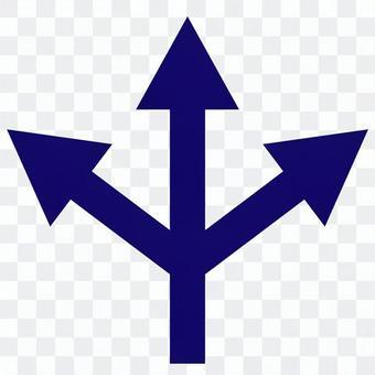 三向箭頭海軍透明