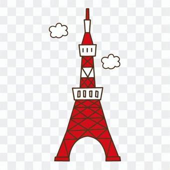 東京塔和雲