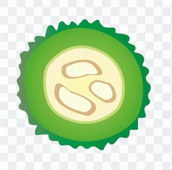 苦瓜的圓片(有籽)