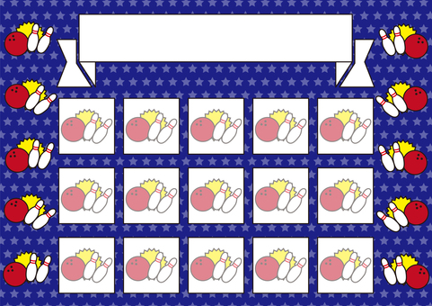 16 Stamp Card_Bowling / Blue