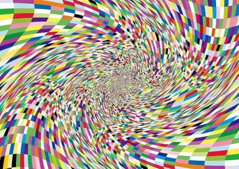 扭曲和旋轉彩色馬賽克壁紙
