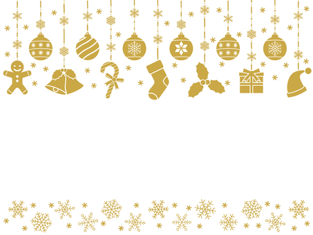 可愛的聖誕裝飾框架