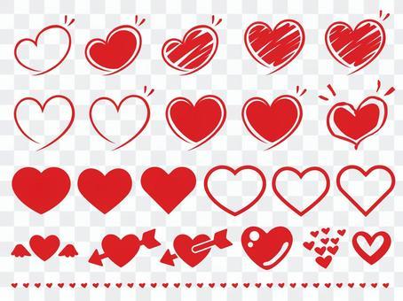 簡單的心臟·手繪材料收藏集紅色