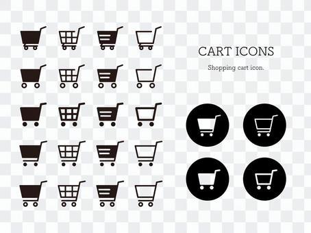 ショッピングカートアイコンセット