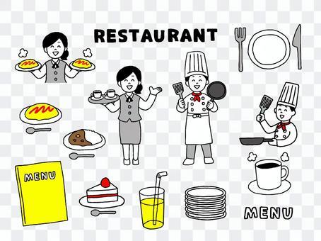 レストランセット(シンプル)