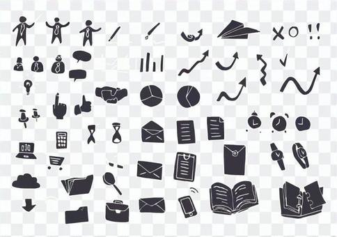 Business Icons Gray