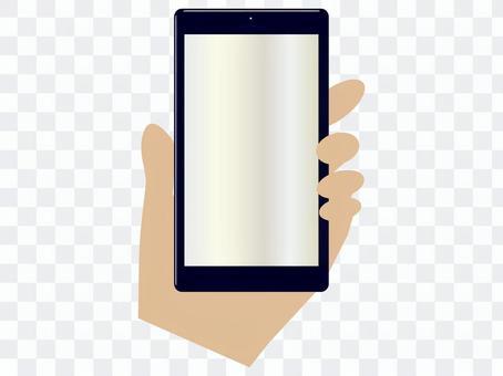 手手指左手智能手機平板手機