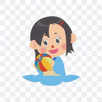 一個穿著和服的女人(普通座位/紙質氣球)