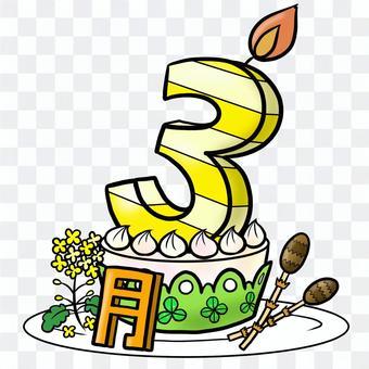 生日蛋糕3月